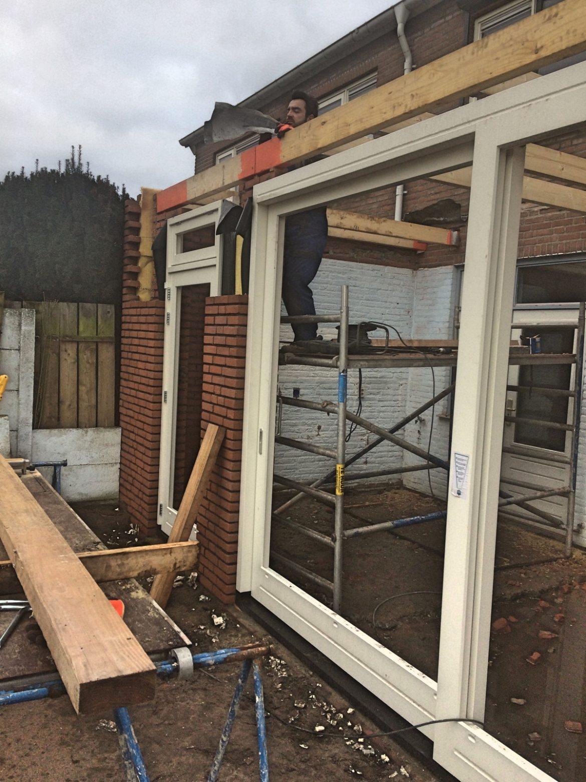 Realisatie aanbouw woonhuis